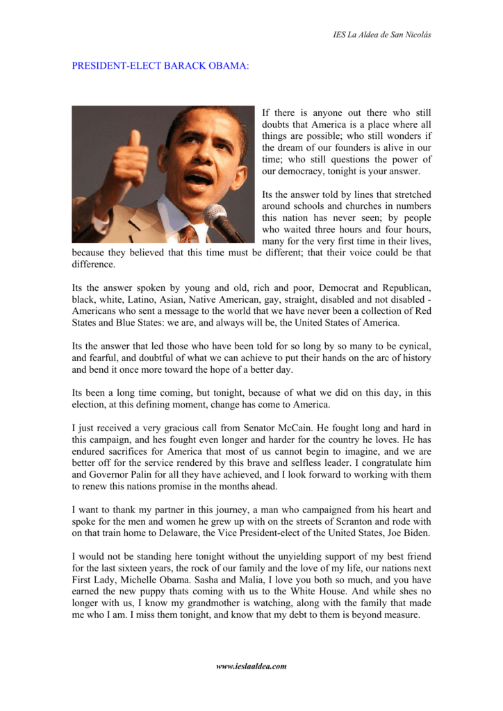 PRESIDENT-ELECT BARACK OBAMA: If there is