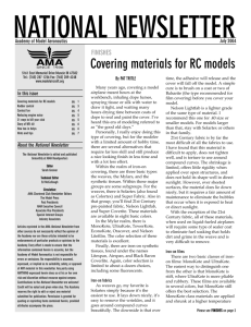Covering materials for RC models