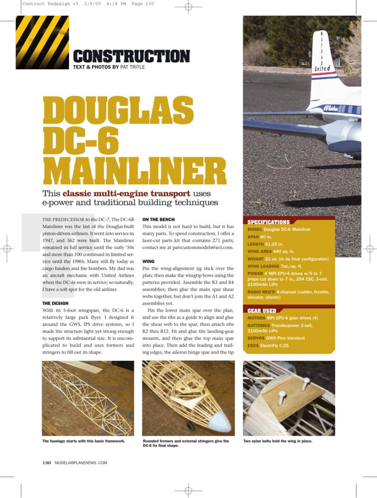DOUGLAS DC-6 MAINLINER