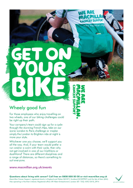 Wheely good fun - Macmillan Cancer Support