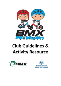 Club Guidelines & Activity Resource