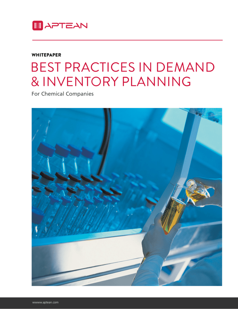 Best Practices in Demand and Inventory Planning for the