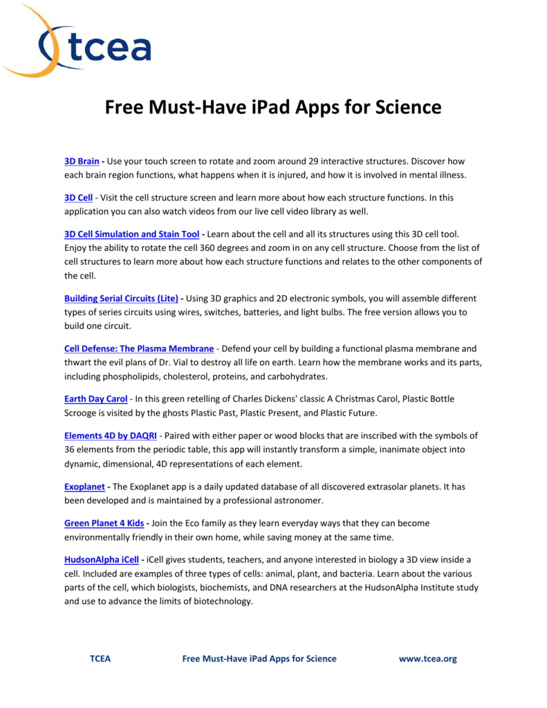 Free must have ipad apps for science urtaz Image collections