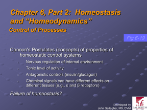 "Chapter 6, Part 2: Homeostasis and ""Homeodynamics"""