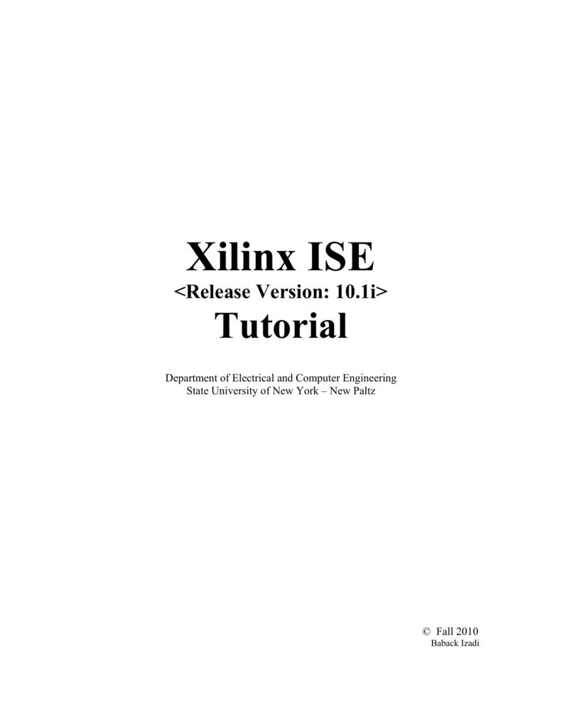 Xilinx ISE Tutorial on