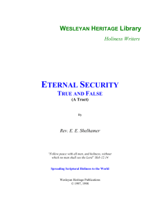 Eternal Security - True and False (A Tract)