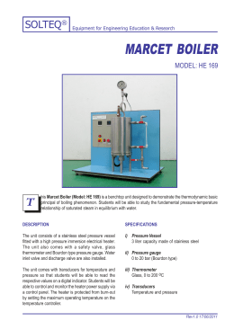 marcet boiler - Solution Engineering