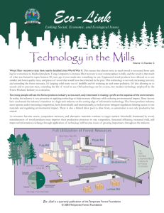 Technology in the Mills Eco-Link - Idaho Forest Products Commission