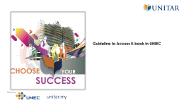 Access E-book in UNIEC