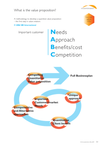 Needs Approach Benefits/cost Competition