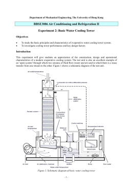 Basic Water Cooling Tower - Department of Mechanical Engineering