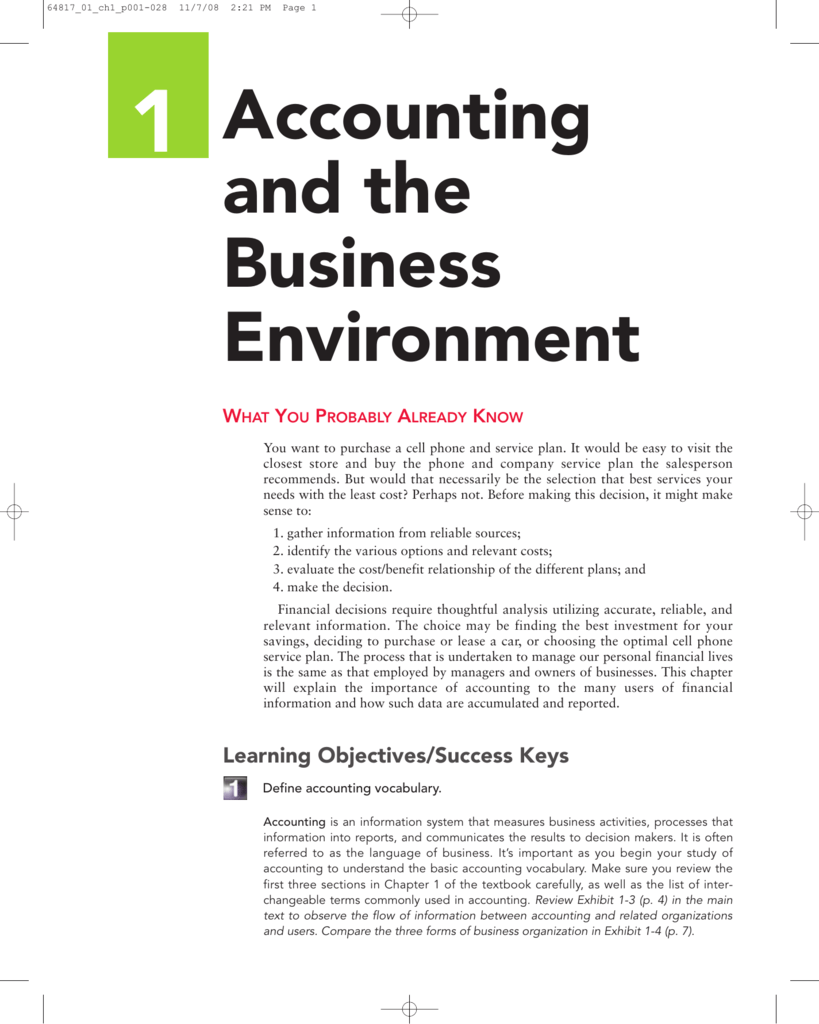accounting important formats