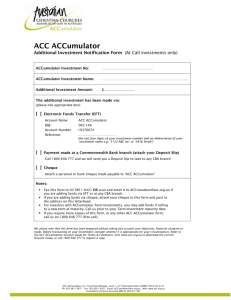 ACC ACCumulator