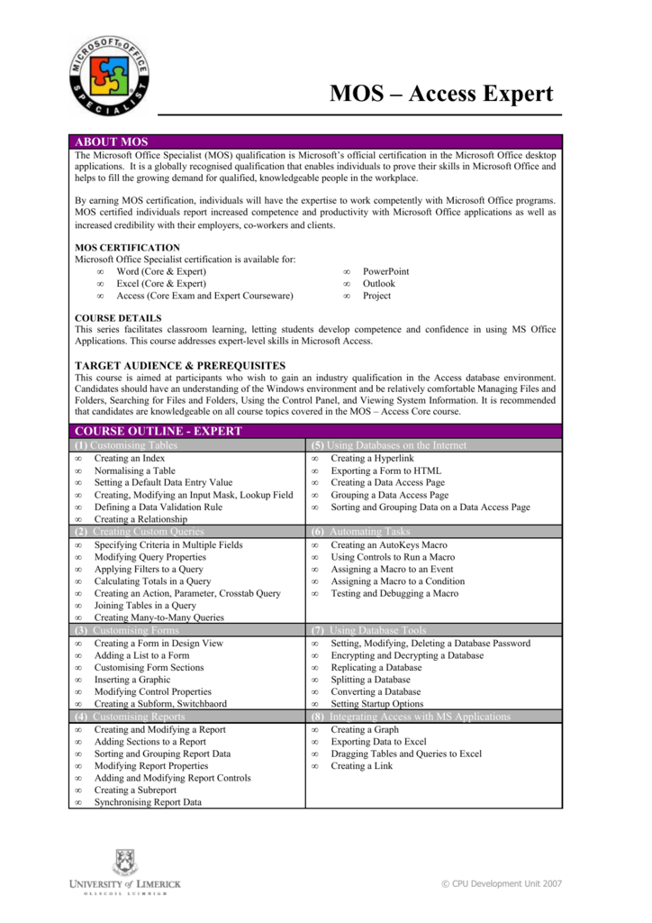 Ms Office Course Outline Ukrandiffusion