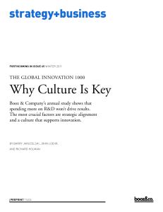 THE GLOBAL INNOVATION 1000 Why Culture Is Key