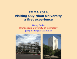 EMMA 2014, Visiting Quy Nhon University, a first experience