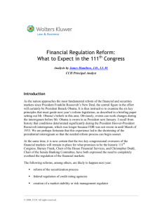 Financial Regulation Reform: What to Expect in the