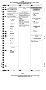 OFFICIAL BALLOT REPUBLICAN PREFERENTIAL PRIMARY