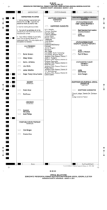 OFFICIAL BALLOT DEMOCRATIC PREFERENTIAL PRIMARY