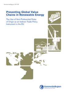 Preventing Global Value Chains in Renewable Energy