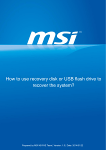 How to use recovery disk or USB flash drive to recover the