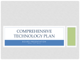 COMPREHENSIVE TECHNOLOGY PLAN