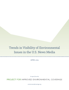 Trends in Visibility of Environmental Issues in the U.S. News Media