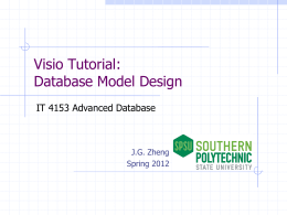 Visio Tutorial: Database Model Design