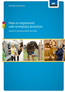 How to implement safe workplace practices