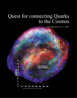 Quest for connecting Quarks to the Cosmos - WCU-q2c