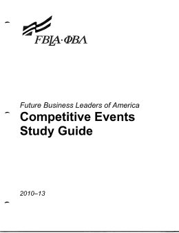 Competitive Events Study Guide