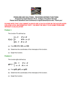 Piecewise-Defined Functions - College of Southern Nevada