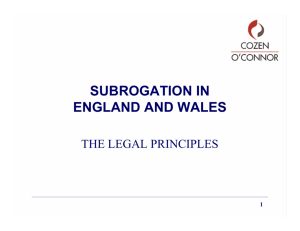 1 subrogation in england and wales