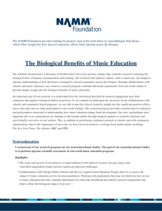 The Biological Benefits of Music Education