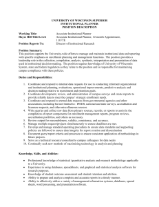 UW-SUPERIOR CONTROLLER - University of Wisconsin