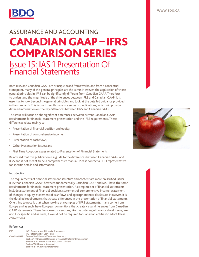 Canadian Gaap Comparative Income Statements
