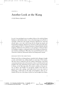 Another Look at the !Kung - University of California Press