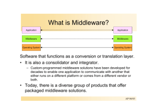 What is Middleware? - Operating Systems and Middleware Group at