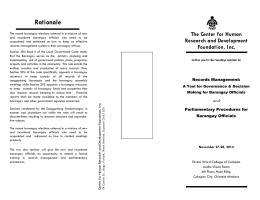 Rationale - Center for Human Research and Development