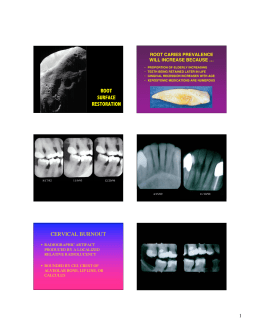 Root Caries Restorations