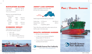 Portof Duluth–Superior About lAke superior nAvigAtion seAson