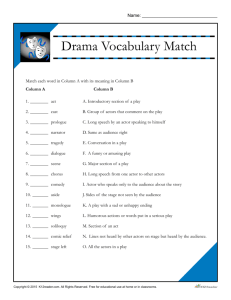 Drama Vocabulary Match