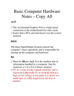 1 Computer Basics Worksheet