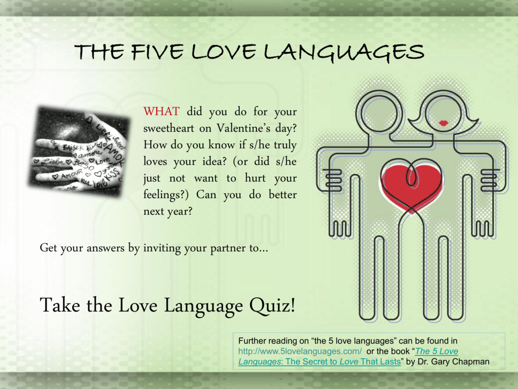 What is your love language quiz