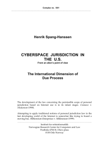 cyberspace jurisdiction in the us