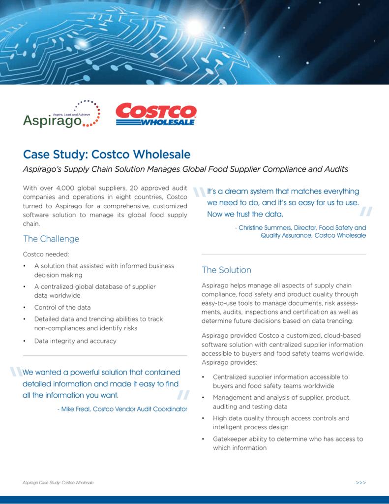 aspirago costco wholesale case study