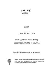 ACCA Paper F2 / FMA - TonySurridge co uk