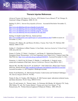 Thoracic Injuries References