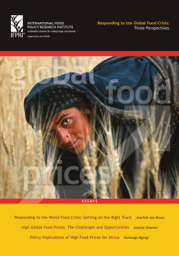 Responding to the Global Food Crisis: Three Perspectives