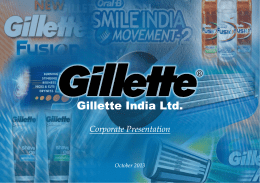 Gill tt I di Ltd Gillette India Ltd.